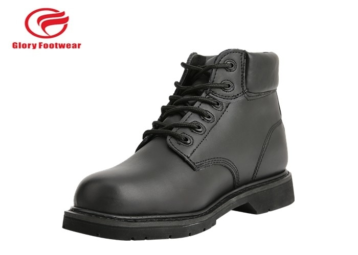 Men's Construction Goodyear Welt Safety Shoes , Bull Run Leather Insulated Work Boots